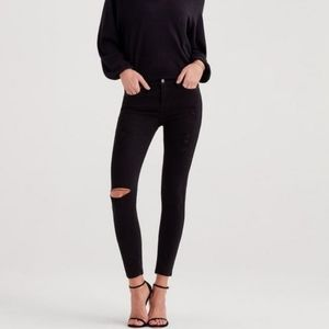 7 for all Manning b(air) black ripped skinny